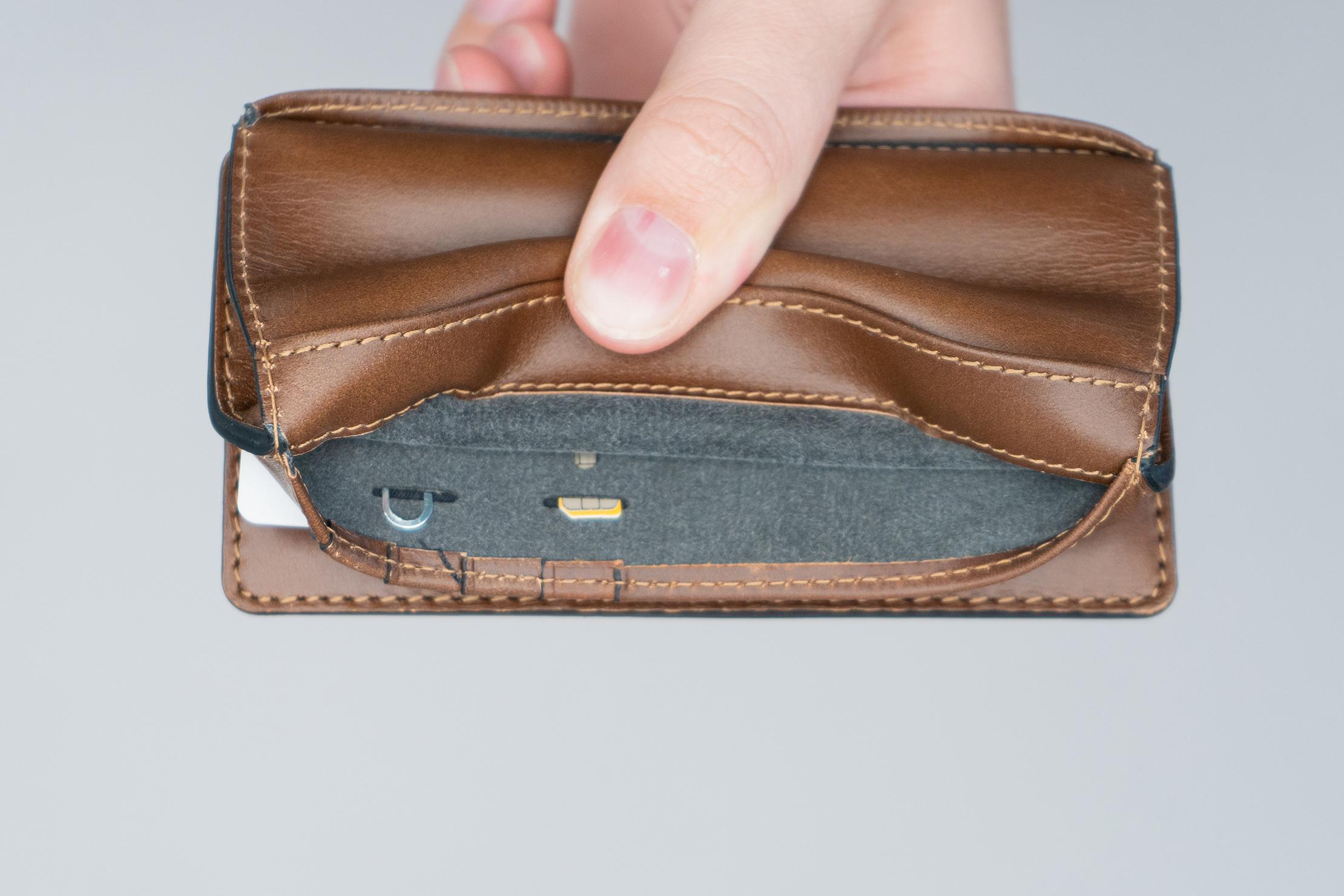 Nomad Goods Traditional Passport Wallet SIM Card 1