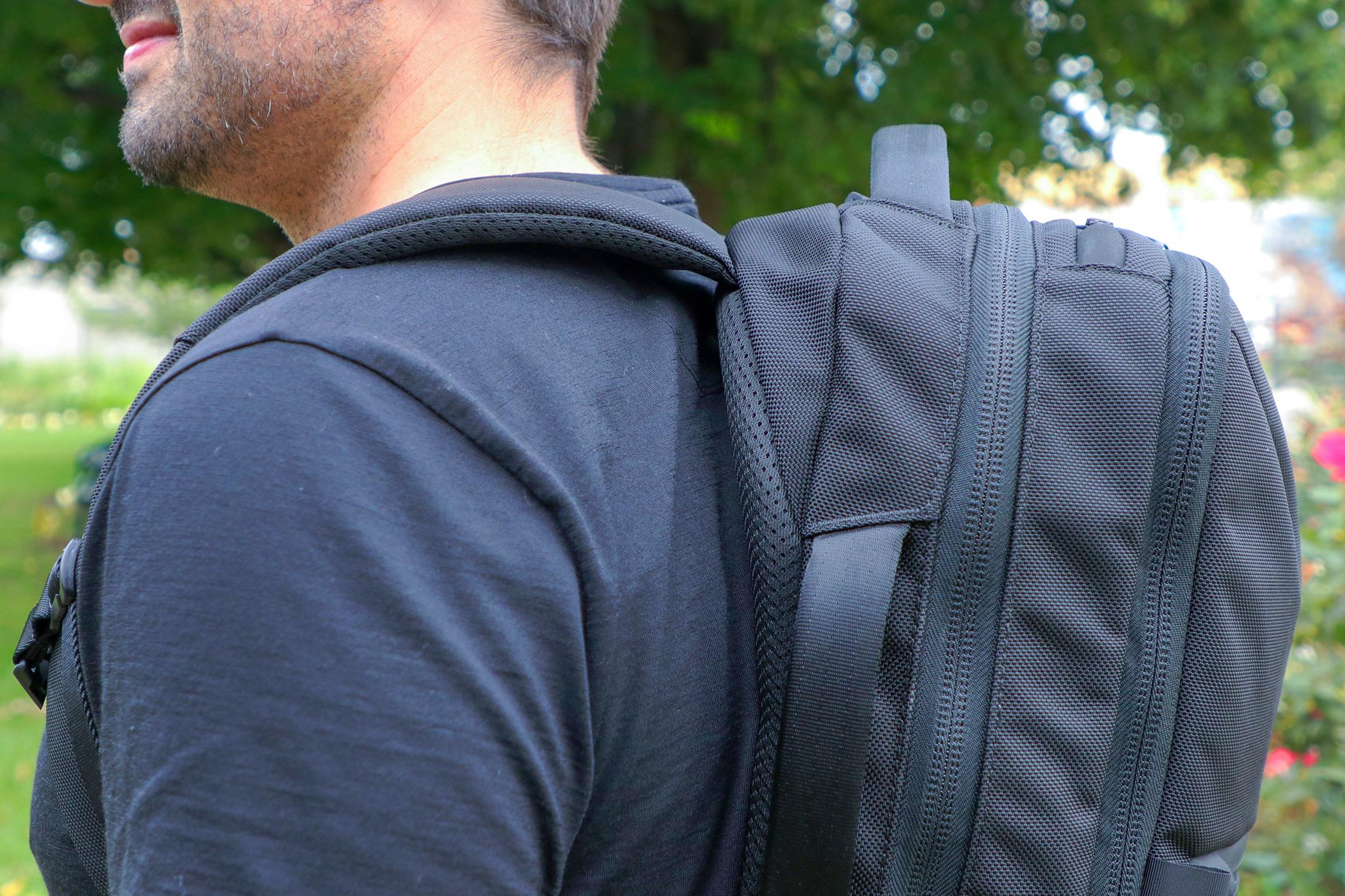 Aer City Pack Shoulder Closeup