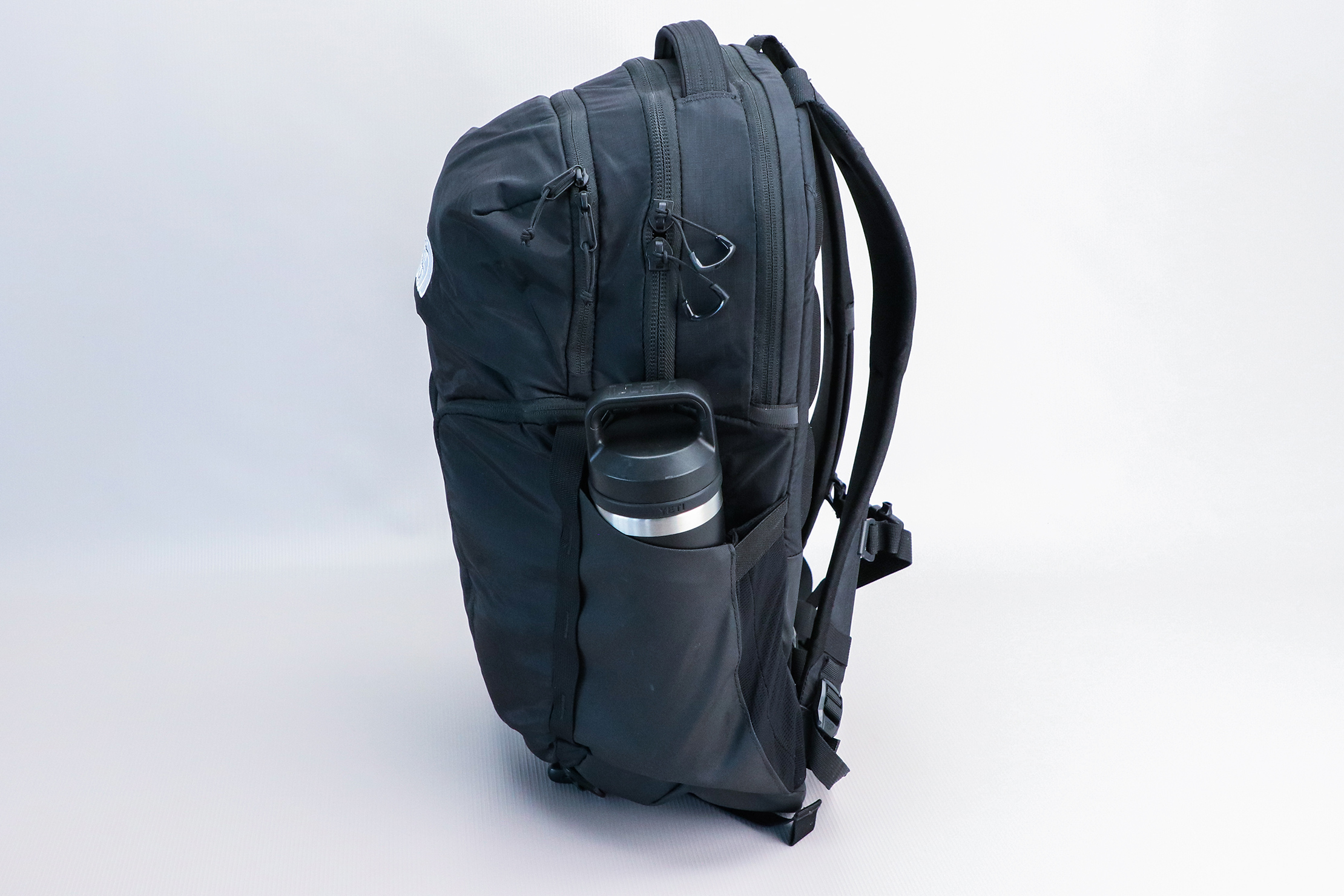 The North Face Surge Backpack water bottle pocket