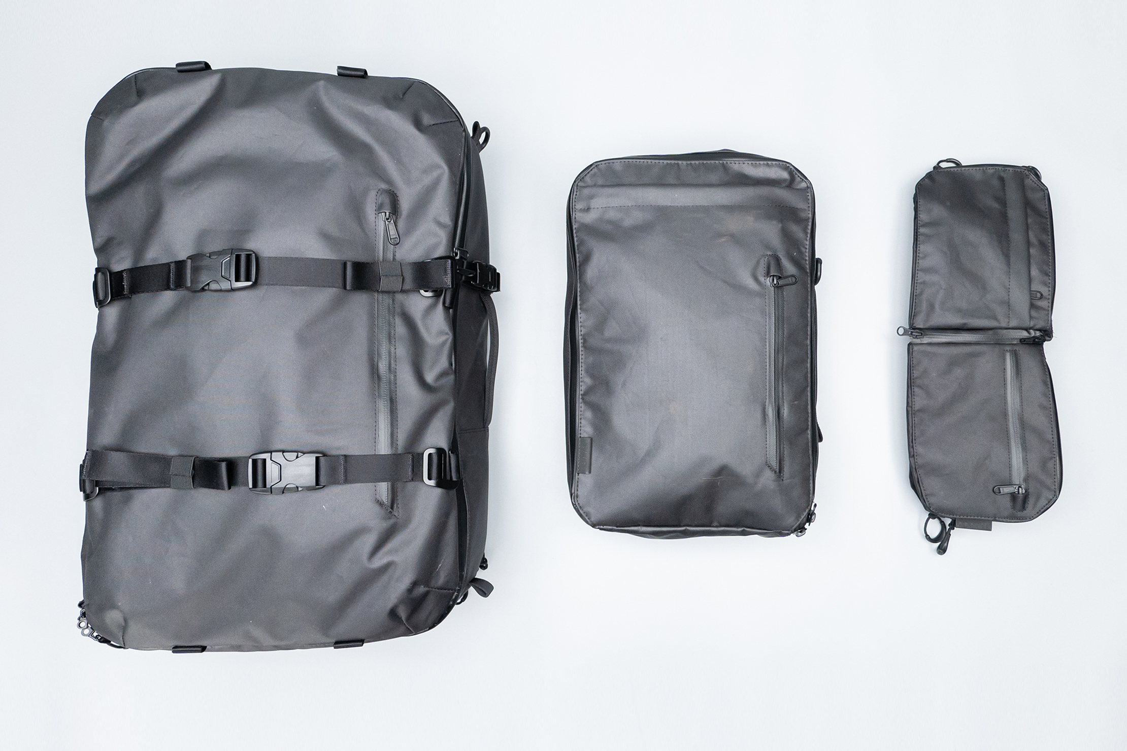 Gravel Backpack Travel System All Components Flat Lay
