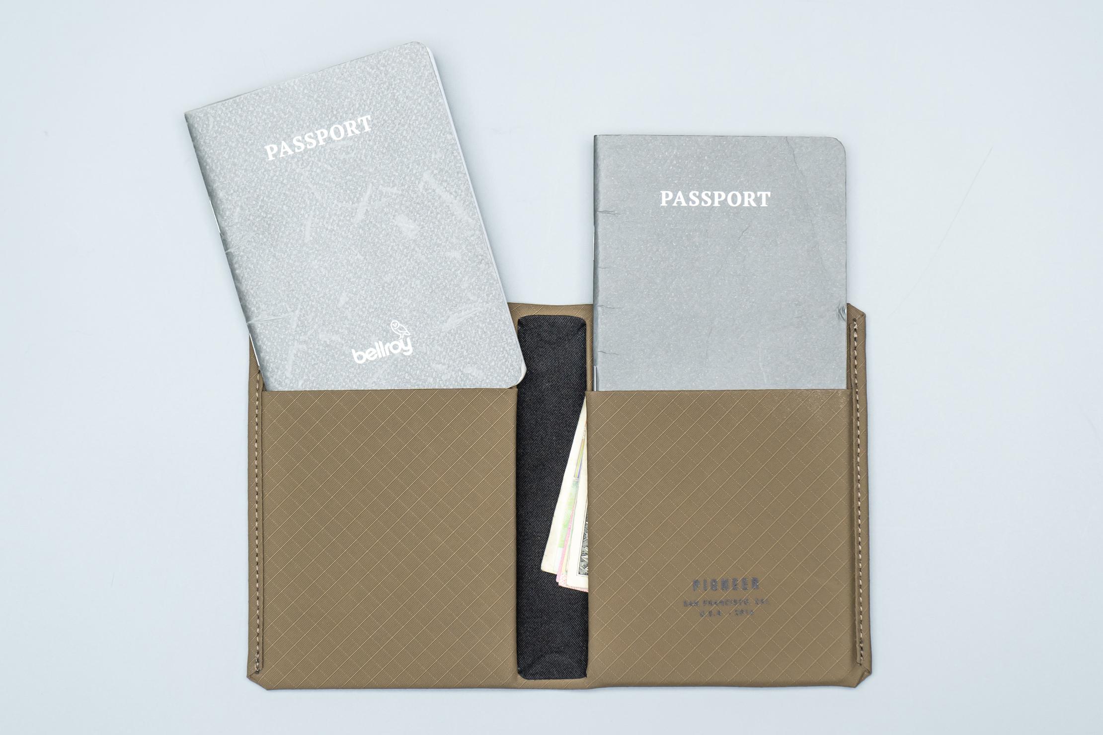 Pioneer Passport Wallet Different Sized Pocket
