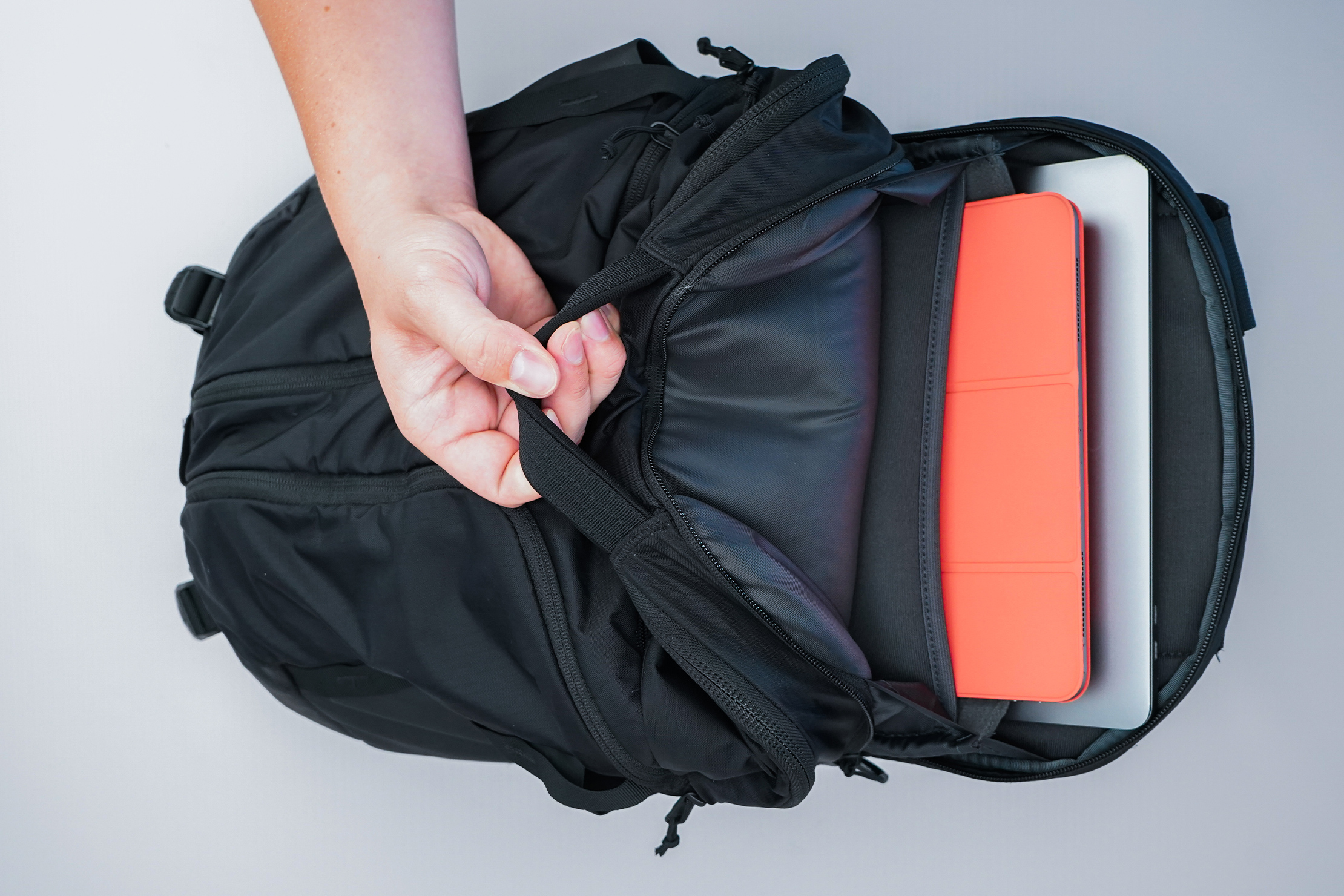 The North Face Surge Backpack laptop compartment