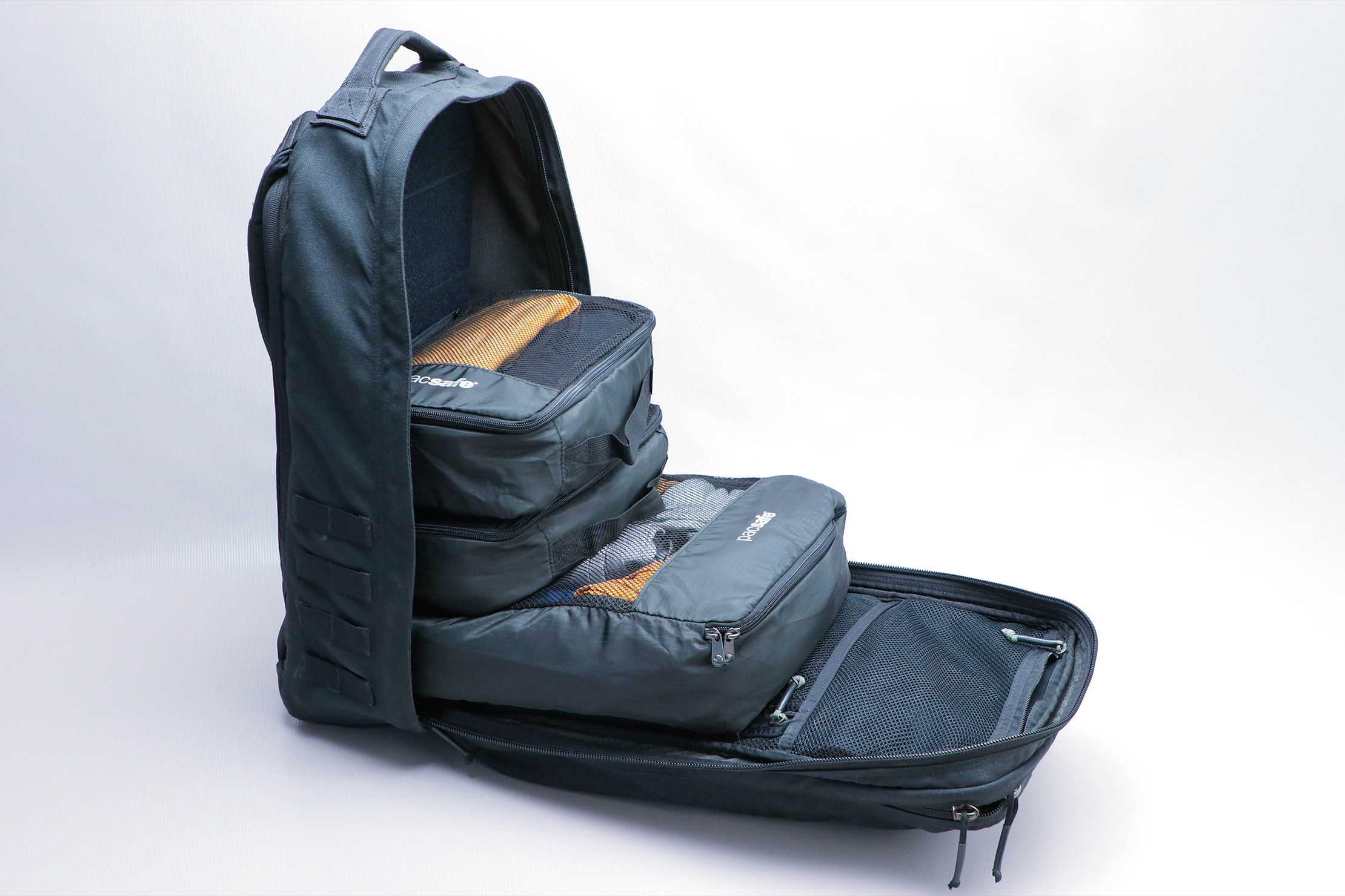 Pacsafe Travel Packing Cubes in a bag 2
