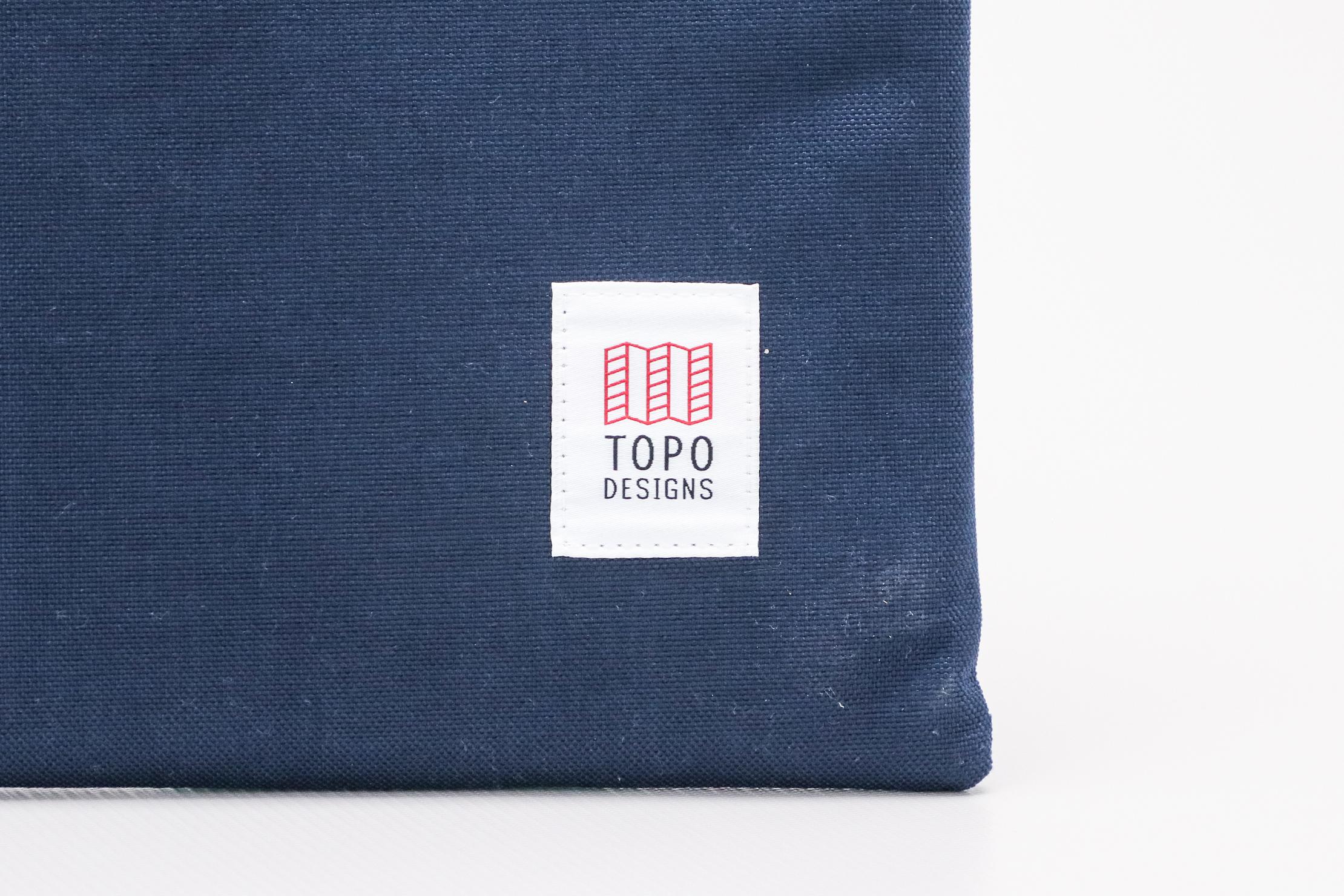 Topo Designs Laptop Sleeve Logo Closeup