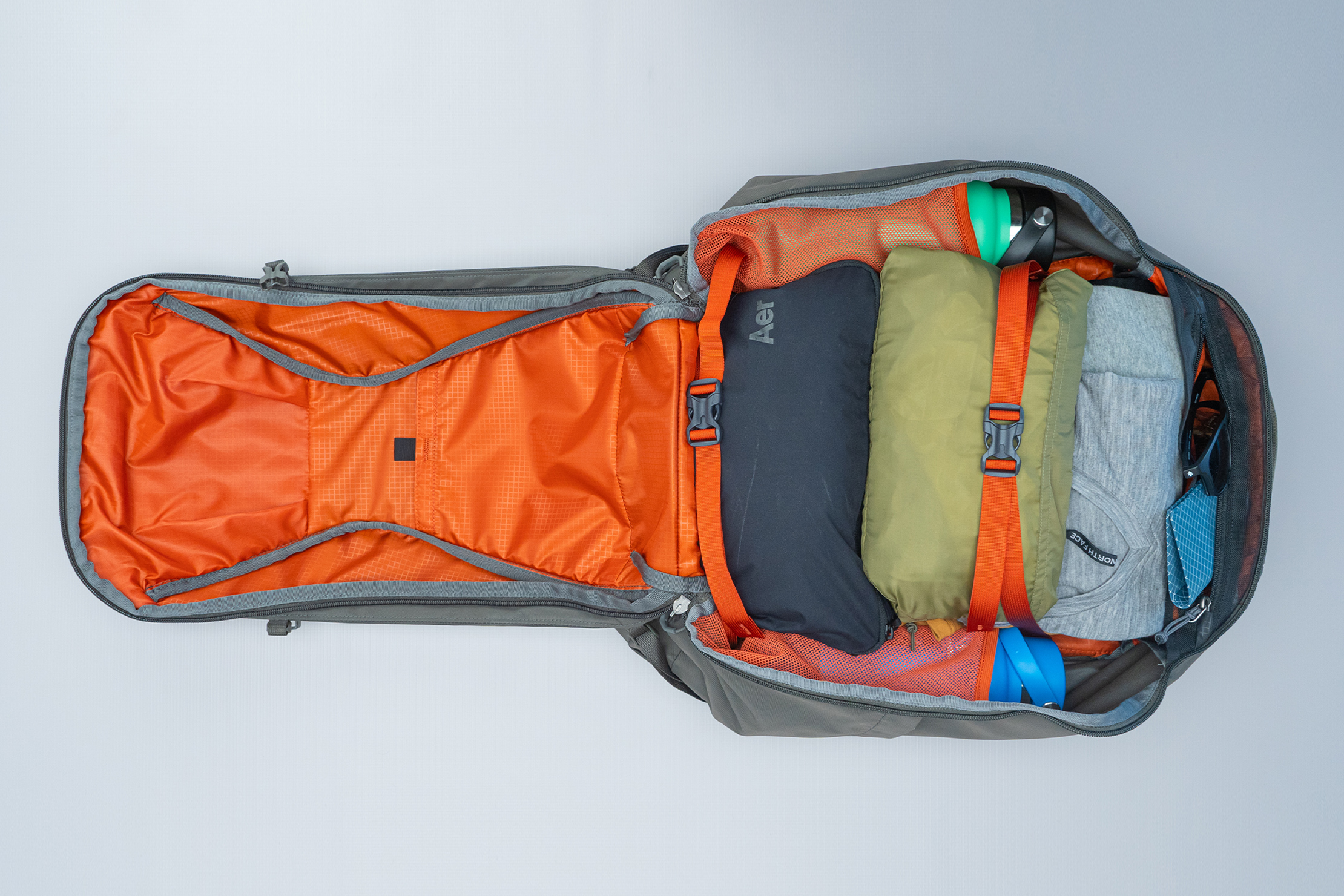 Gregory Detour 40 Backpack Interior Main Compartment Filled
