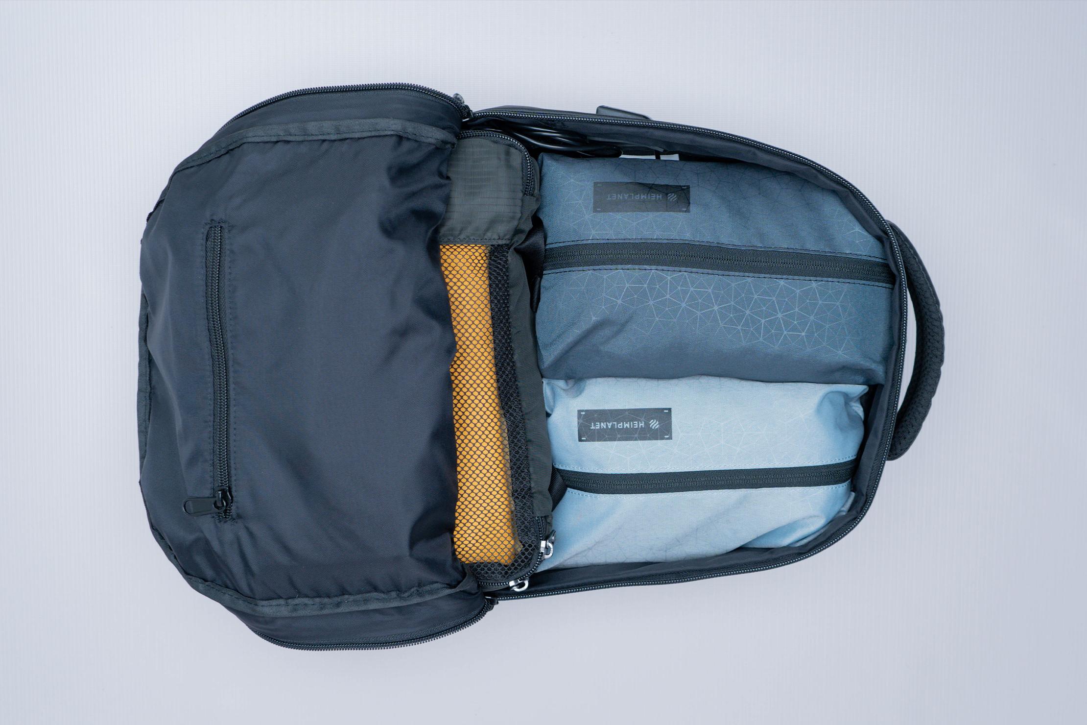 The Ridge Classic Backpack Weatherproof Top View Inside Pocket