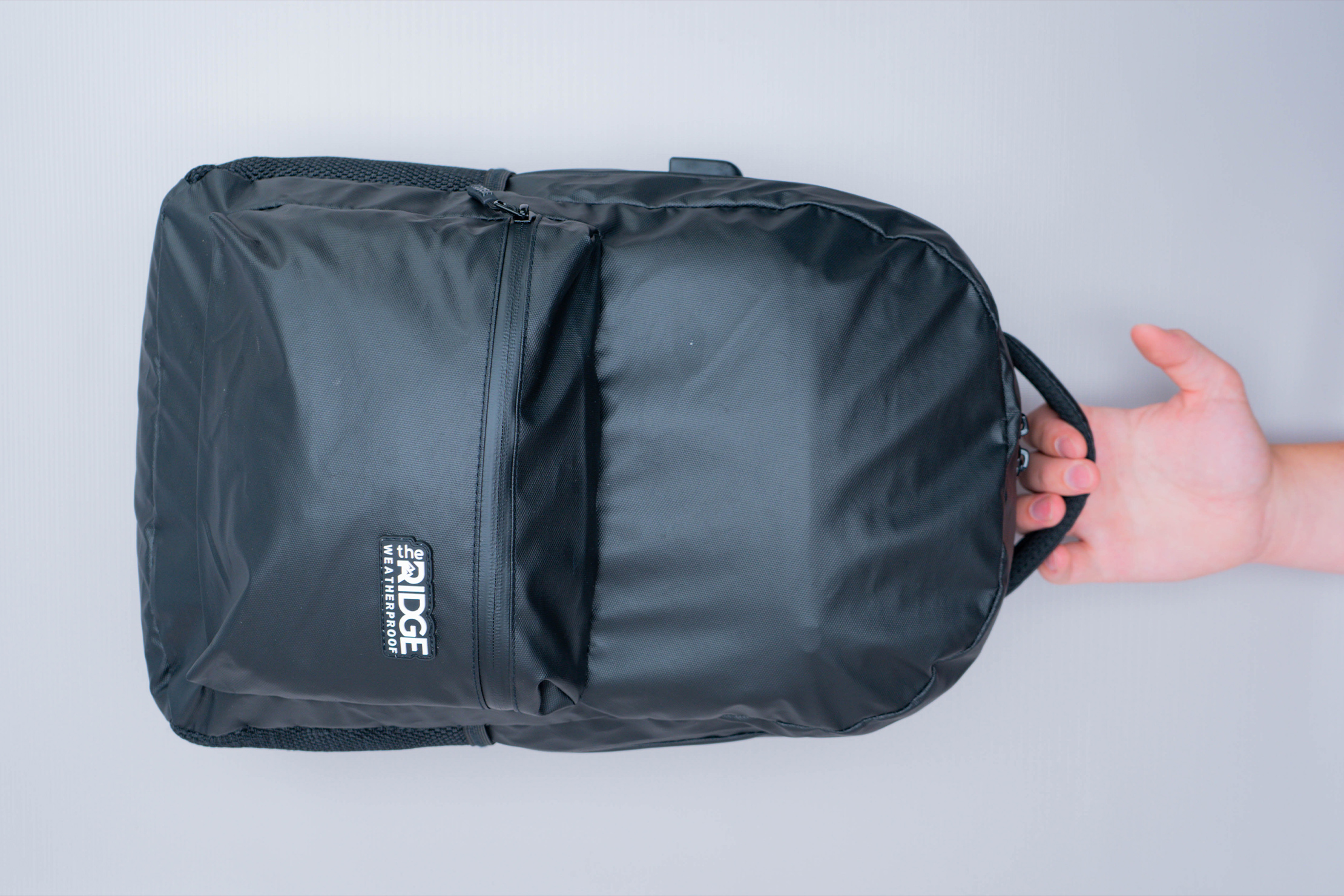 The Ridge Classic Backpack Weatherproof Front Top View