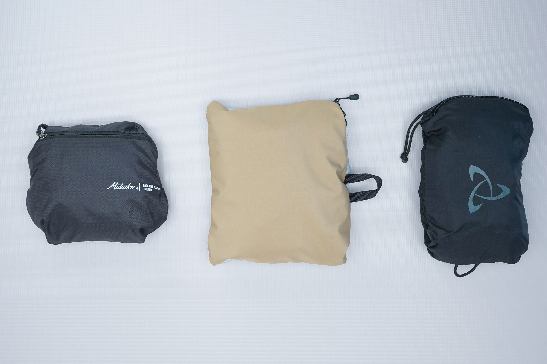 WaterField Designs Packable Backpack Packed Compare
