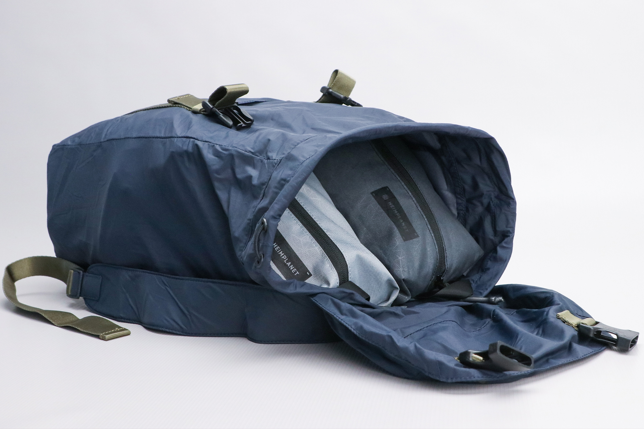 Away Packable Backpack Opened Indoor